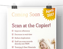Scan at the Copier - A3 Internal Staff Poster