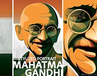 Stylized Portrait - Mahatma Gandhi
