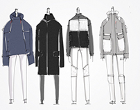 15fw  menswear sketches