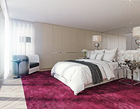 Interior Visualization / Bright Bedroom