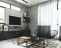 A Living Room in a House in Kepong