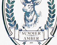 Blue Stag Beer Label