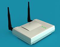 3D Model - Wireless AP