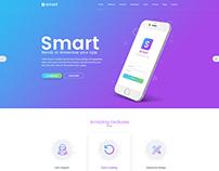 Smart - App Landing Page PSD Template