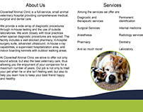 Cloverleaf Animal Clinic brochure