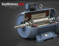 3d AC Motor