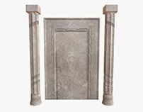 Gate and columns PBR textured