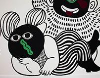 'Feature Creatures' / Interactive Mural