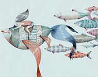 Peces y sardinas