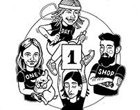 T-SHIRTS FOR ONEDAYSHOP
