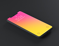 Minimal Dark iPhone x mockup