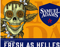 Samuel Adams Helles Lager Illustrated by Steven Noble