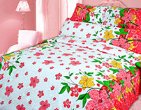 Applied designs as popular bedspreads