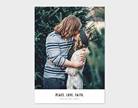 Christmas Card Template - Peace.Love.Faith