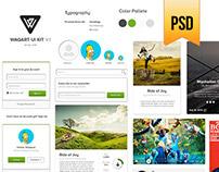 Download Free Waqart UI Kit V.1 PSD