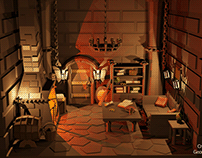 Low-Poly Dungeon Room