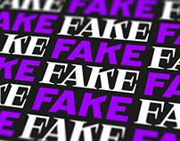 FAKE | Brand Identity | Custom Type