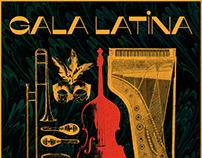 Gala Latina Poster Design