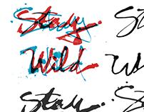Handlettered Logos & Tracklist - Stay Wild