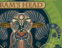 Ram's Head with Dashes