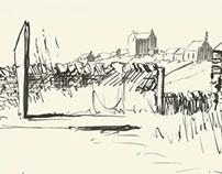 Brush Pen Sketch of Orkney