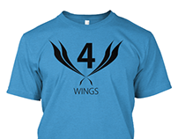 4 Wings Tshirt Design