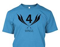 4 Wings Tshirt Design