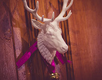 Reindeer head 3D print, digital sculpture
