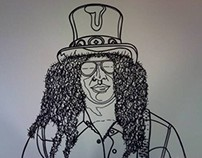 Slash Outline for the piece, Appetite For Creation.