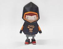 037_WTAPS hoodie [Paper Toy Boogie Hood]