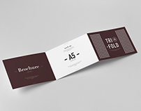 Tri-Fold A5 Horizontal Brochure Mock-up 2