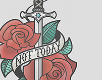 Not Today Illustration
