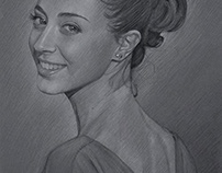 Pretty Girl Pencil Drawing