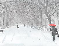 NY, Central Park, Winter