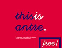 antre / free font