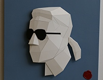 Karl Lagerfeld paper relief