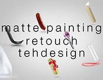 Matte painting, retouch, tehdesign