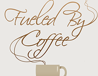 Fueled by Coffee T-shirt Design