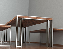 Charles Table and Bench from Stacklab