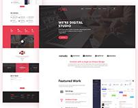 Pixel Agency Landing Page Design