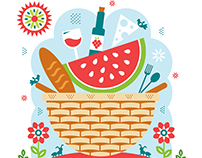 Picnic Illustration