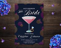 Bridal Shower Wedding Invitation card