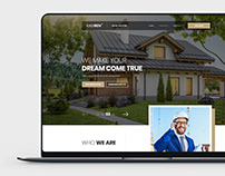 Website PSD template for Building Company