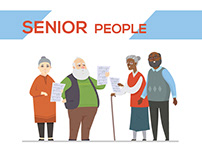 Senior People - Cartoon Characters