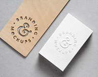 Free Psd of a Cutout & Embossed B-Card Mock Up