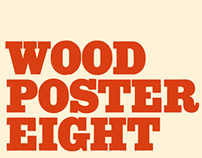 Wood Poster Eight - a free font from astype.de