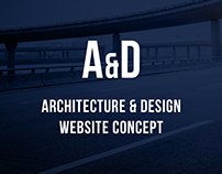 Architecture & Design Website Concept
