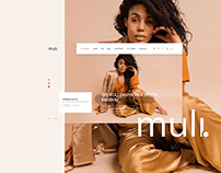 """Muli"" E-commerce Website Template"