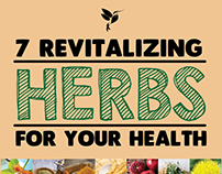 7 Revitalising Herbs: Inforgraphic Project