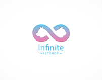 """Infinite"" petshop logo design"